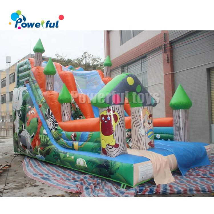 Hot Sale playground inflatable fun city air inflatable bouncy slide on sale