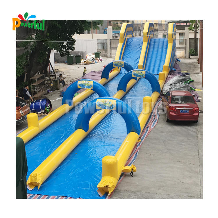 Quality assurancewaterslide inflatable toboggan water slide