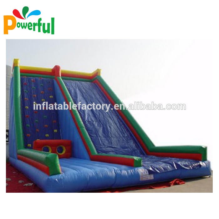 Wall climbing and slide inflatable