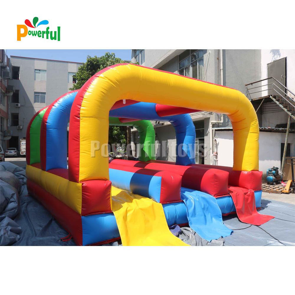 three lane inflatable slip n slide water party inflatable belly slide for sale