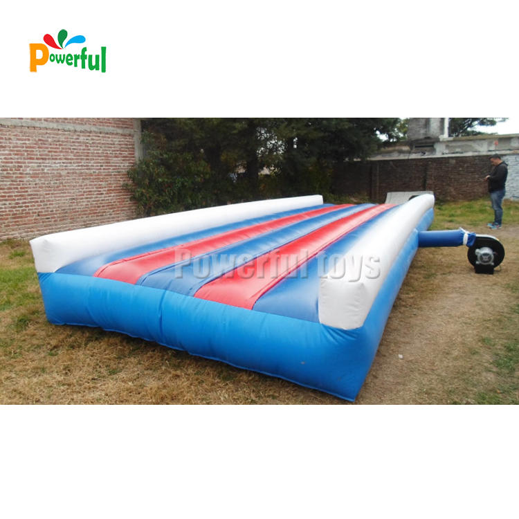 Super summer mini inflatable water long slip n slide city for rentals
