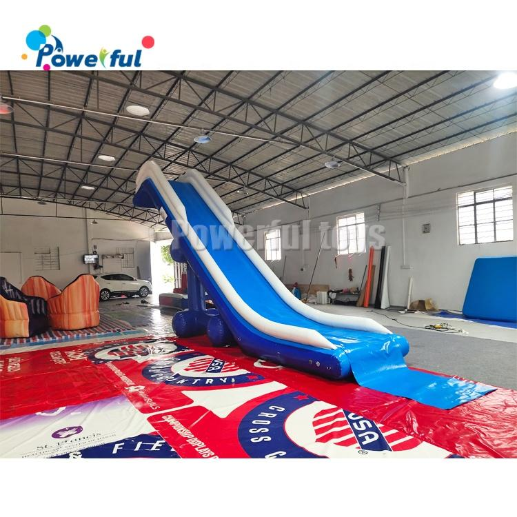 Popular sport games inflatable yacht slide water slide for boat
