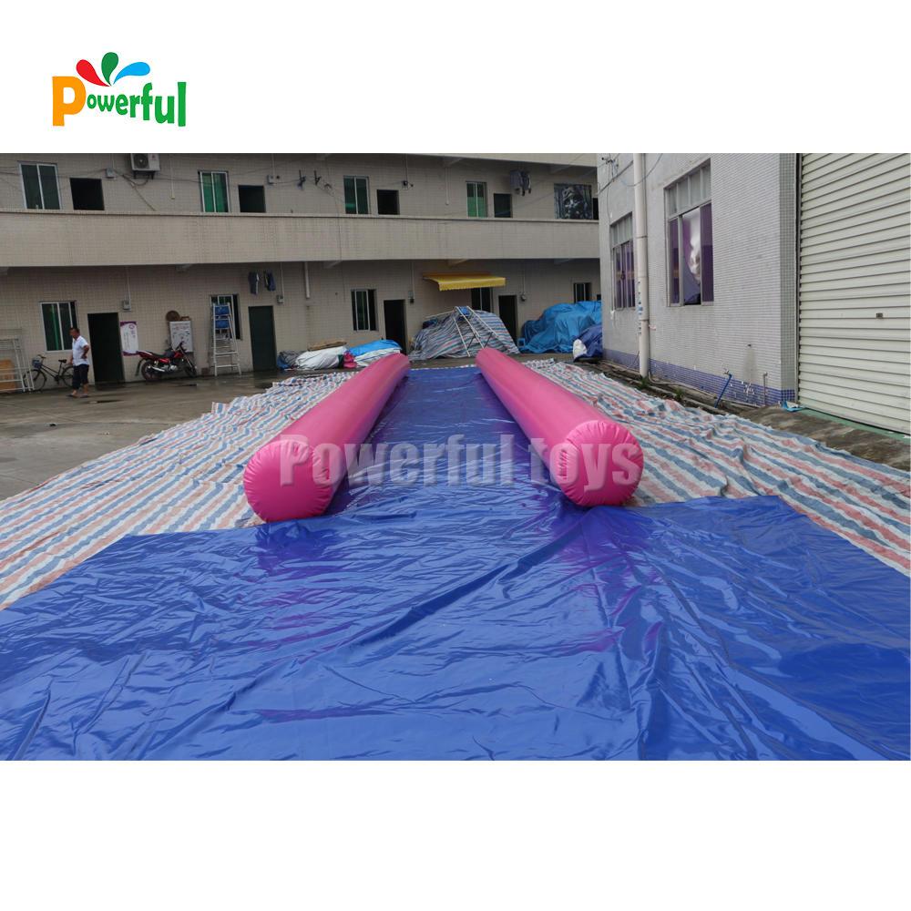 Single lane inflatable escape slide waterslide