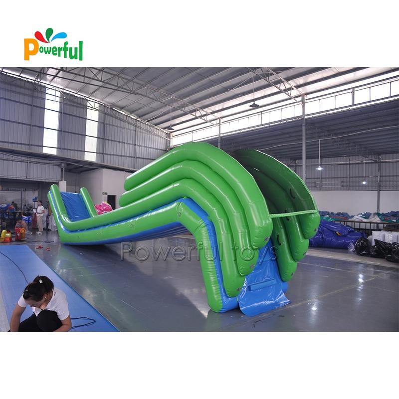 Customized Logo and color water sports equipment Sea soft play equipment inflatable yacht slide