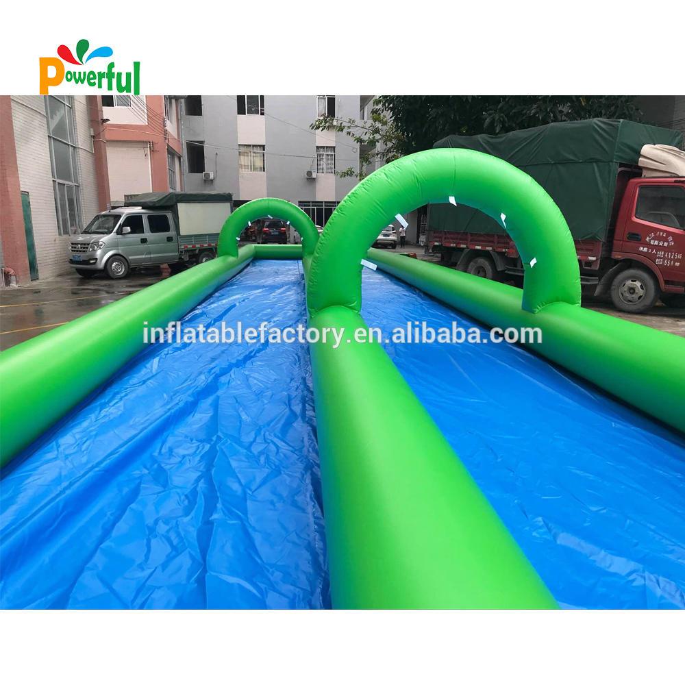 giant inflatable double lane city slide slip n slide