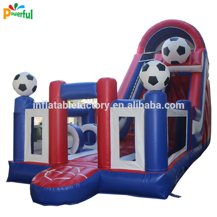Jumping Castles inflatable football slide style theme for children amusement park