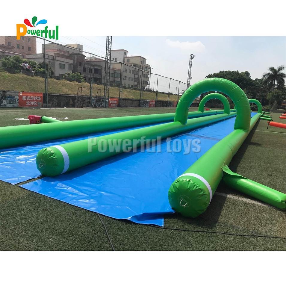 Customized size summer water park slip n slide inflatable slide the city
