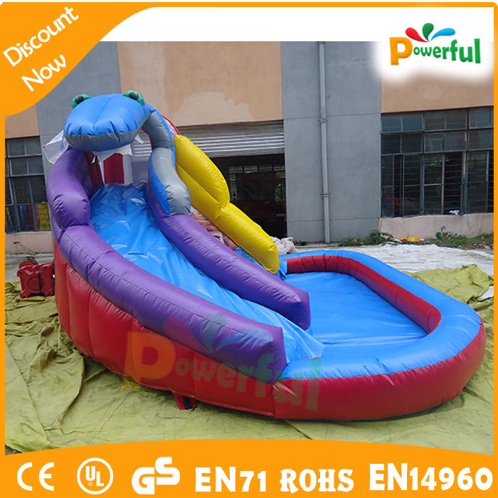 Cheap Price Large Inflatable Kids Bouncy Jumping Castle Combo Water Park Playground Water Slide With Swimming Pool
