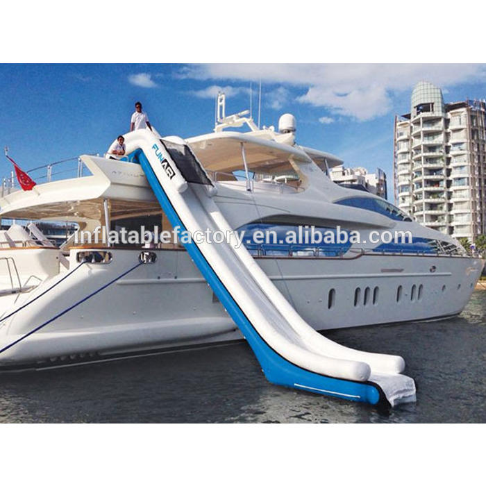 Inflatable floating water slide for boat , inflatable yacht slide