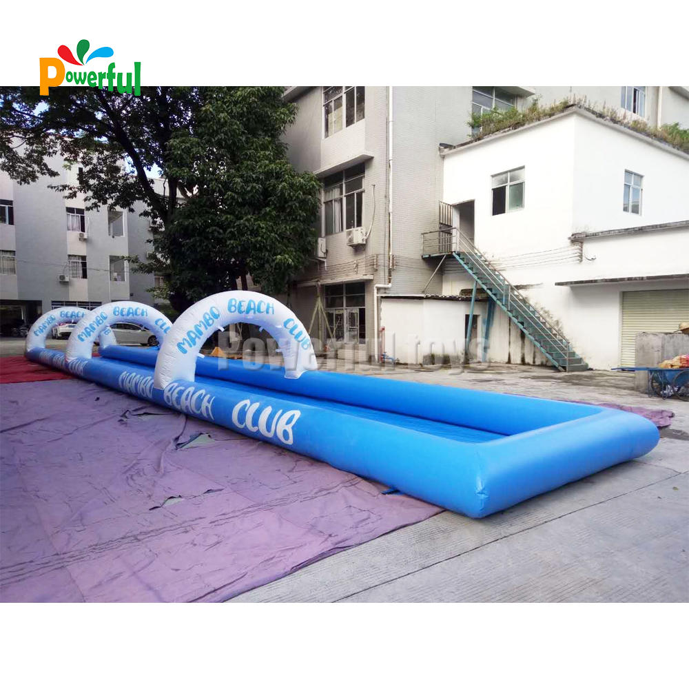 Commercial inflatable waterslide with pool