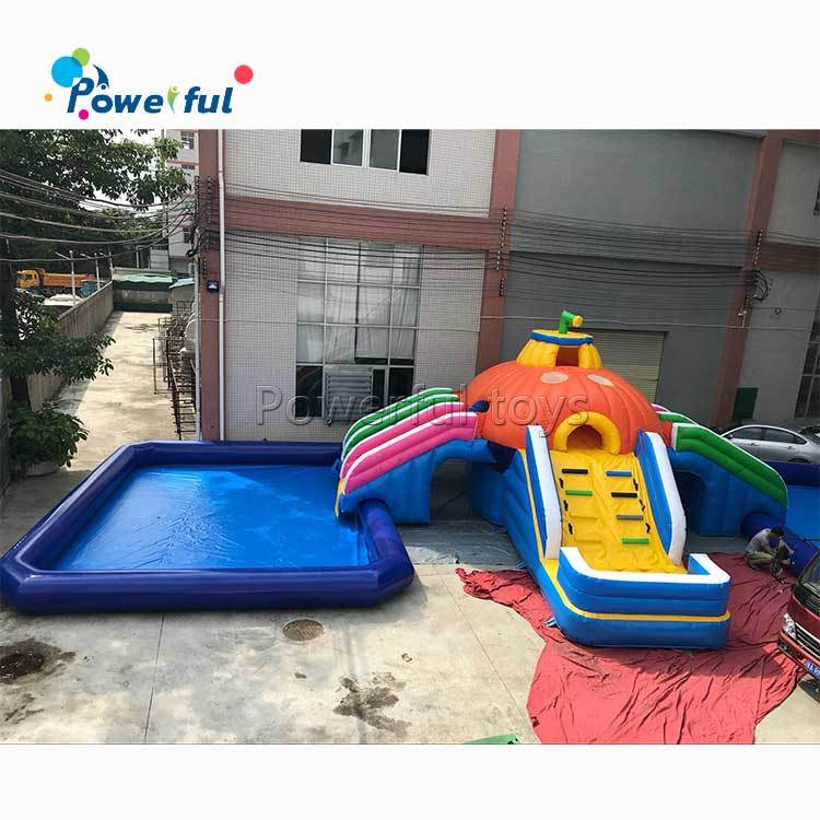 Cheap Inflatable Water Slides with pool for kids