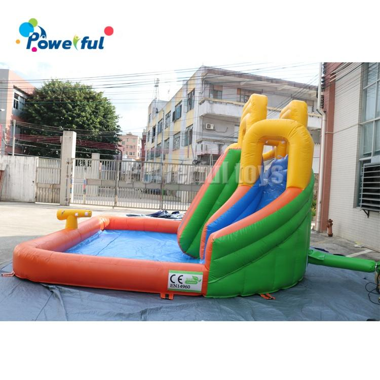 Inflatable outdoor bouncy slide inflatable slide with water pool