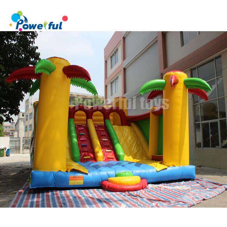 Customized size kids playground inflatable jumping bounce slide