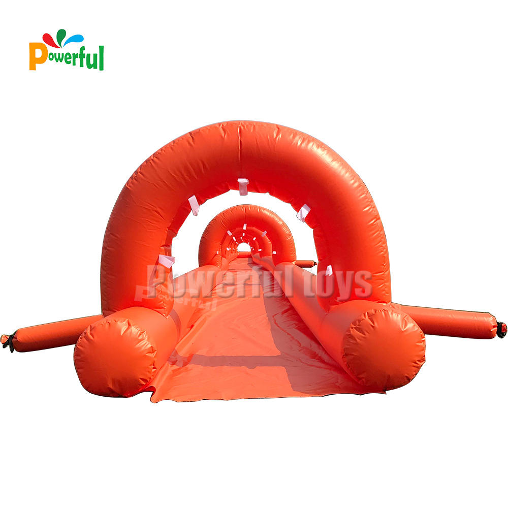 30 meters long inflatable nip slip on a water slide for sale