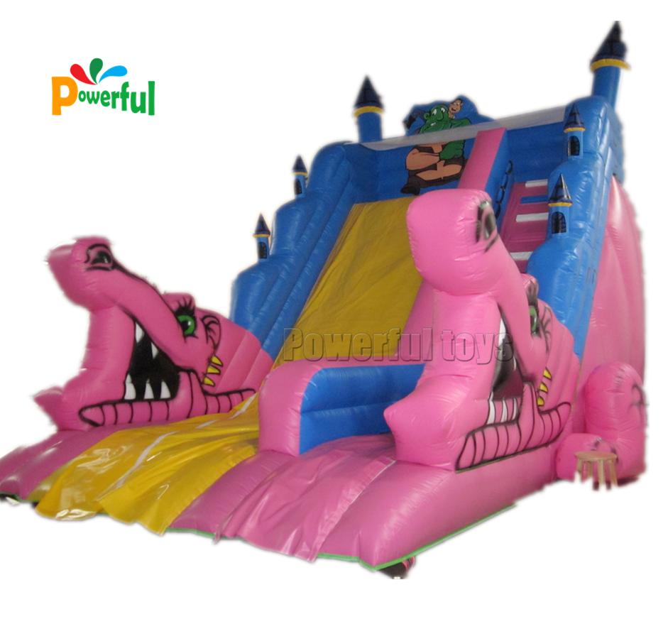 High quality big inflatable bouncy castle inflatable crocodile slide