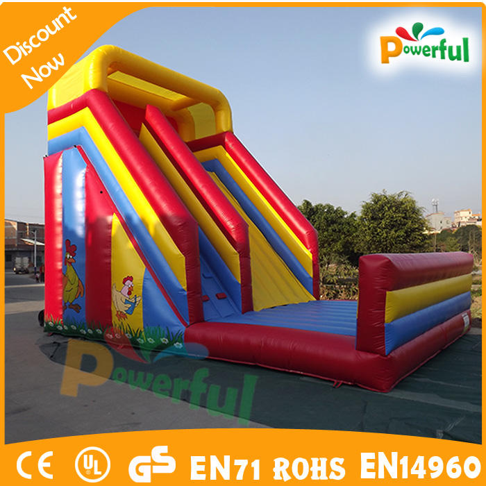 pvc tarpaulin Gackern hill Chicken inflatable slide dry slide manufacturer china