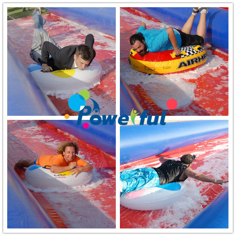 Customized size giant commercial lake inflatable water city slidefor outdoor event