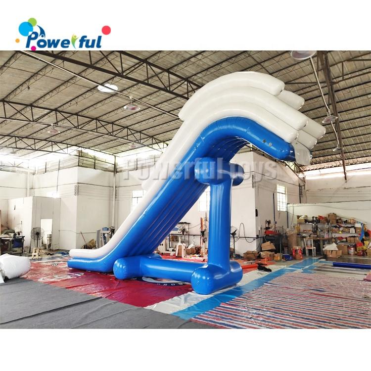 Wholesale Yacht Water Slide Inflatable Boat Dock Slide For Sea Party