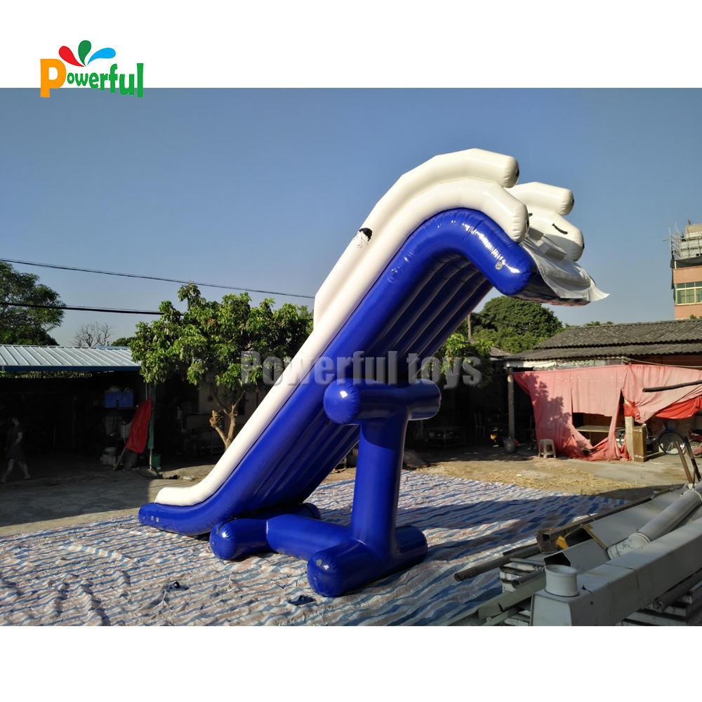 Custom inflatable houseboat slide boat dock water slide