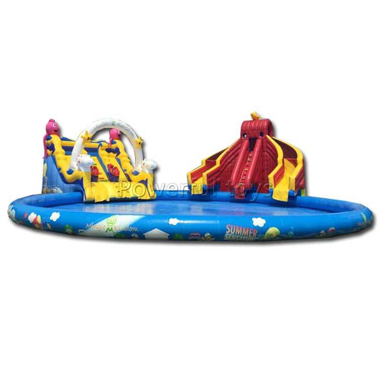 Customized Inflatable Water Pool Slide For Swimming Pool