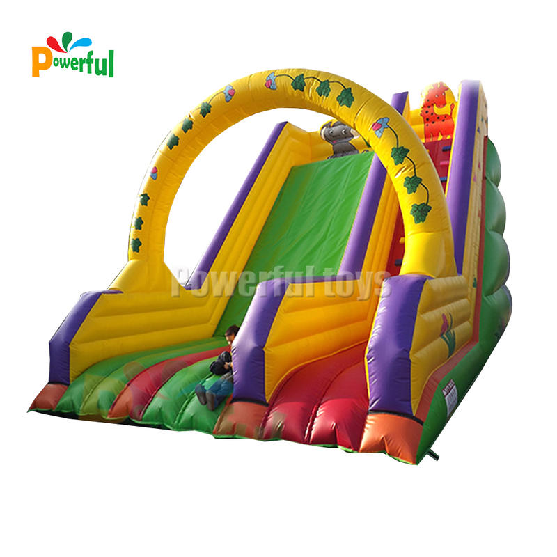 Beautiful Park Inflatable Fun City Inflatable Zoo Slide For Outdoor Playground