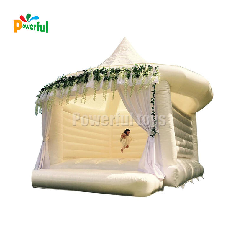White inflatable wedding jump castle bouncer tent for wedding