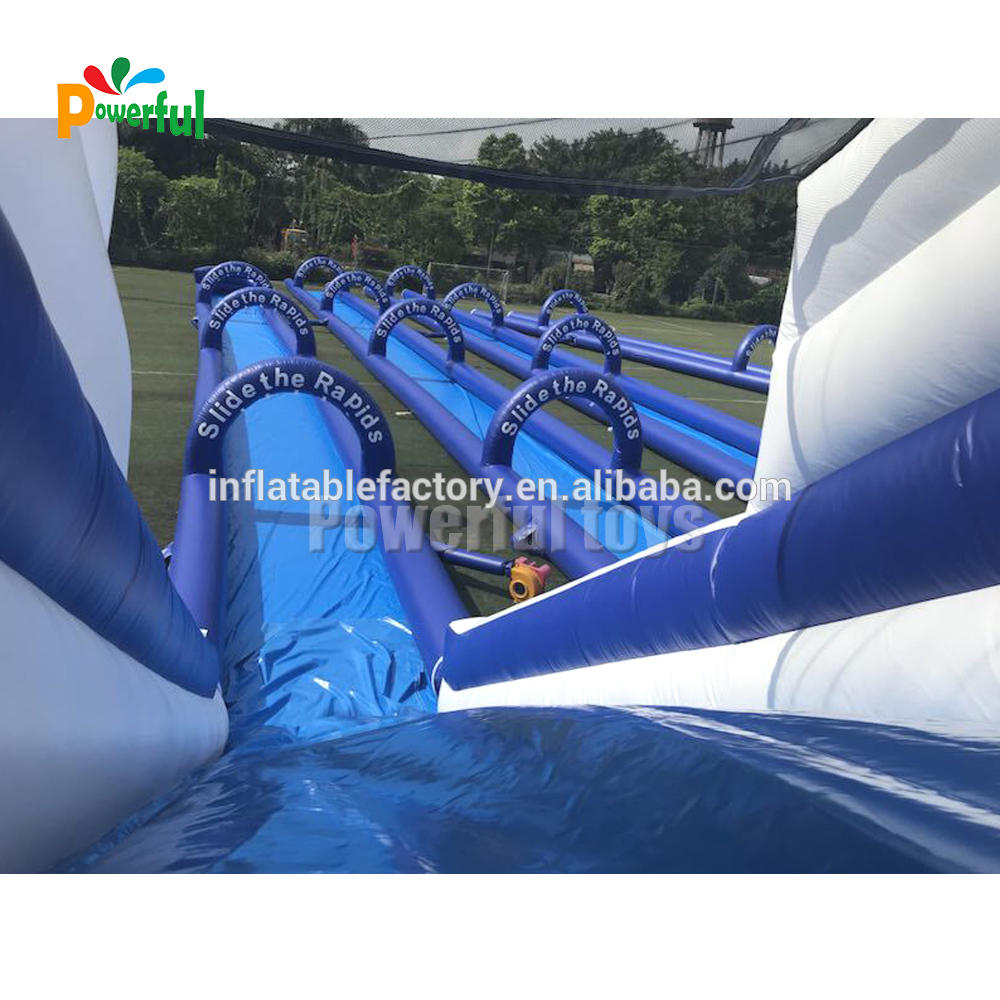 Giant inflatable city water slip n slide game