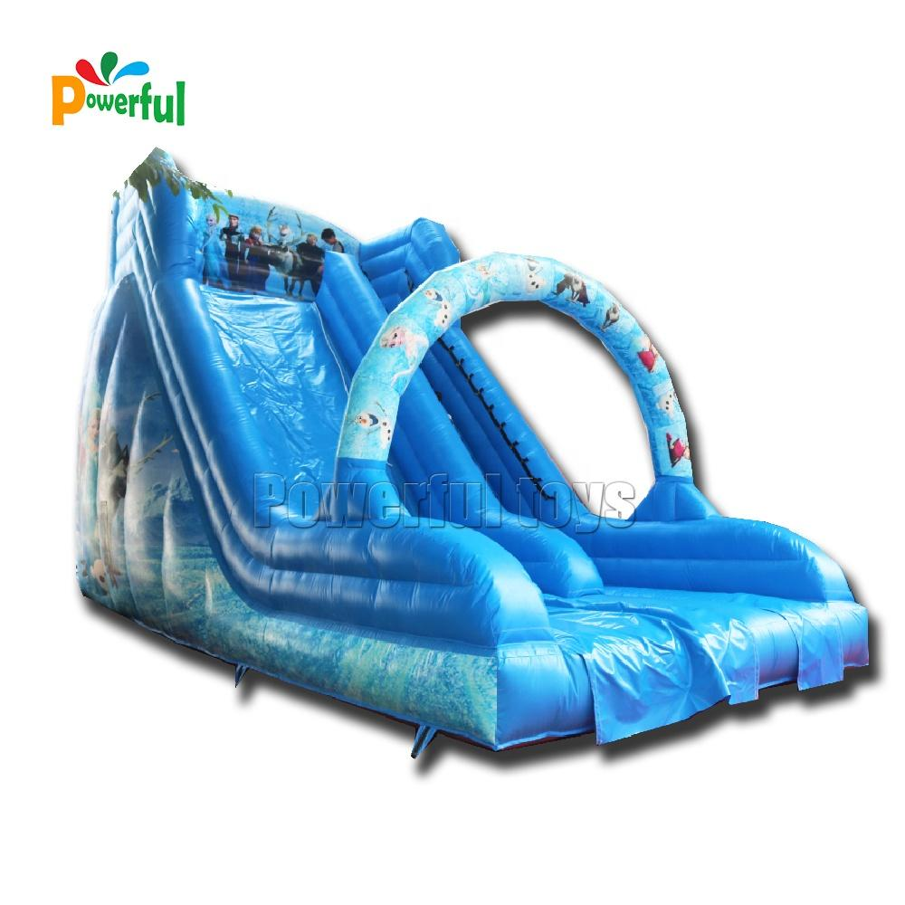 Inflatable toys frozen snow kids sliding ice castle inflatable slide combo with free air blower