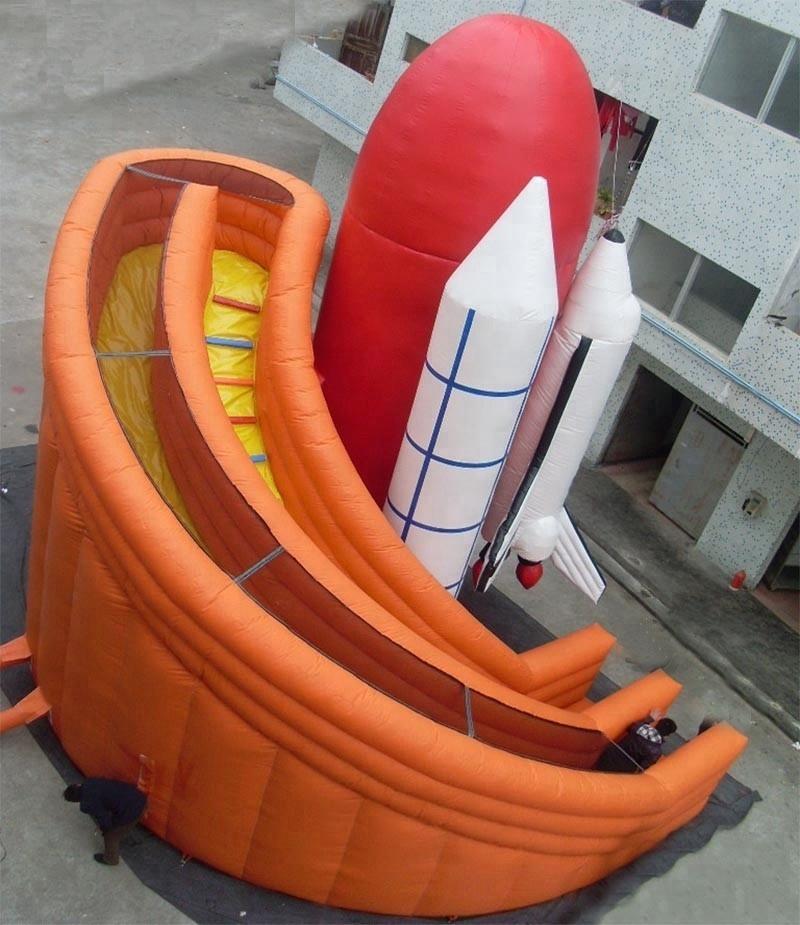 giant inflatable rocket slide rocket ship slide game for kids