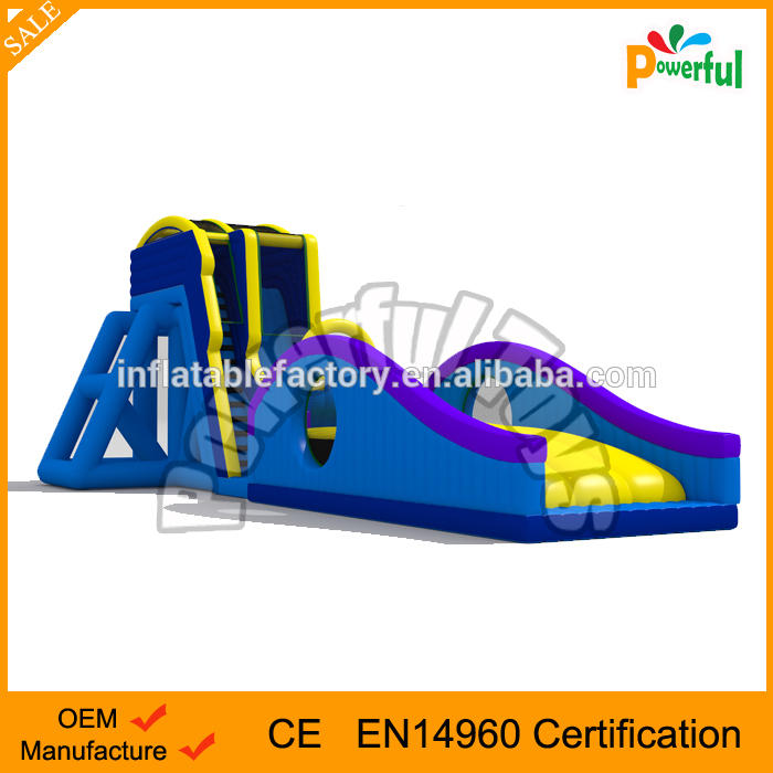 Splash inflatable water giant surf drop kick slide for rental