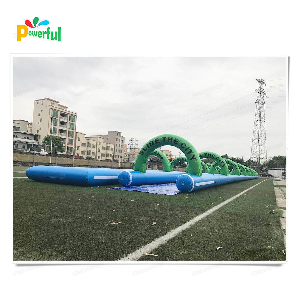 commercial used giant inflatable slide the city,inflatable water slide,1000ft inflatable slip n slide