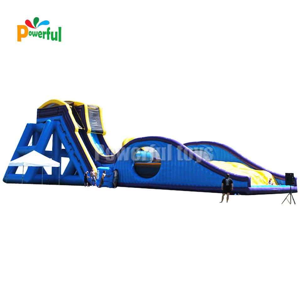 inflatable drop kick water slide for sale