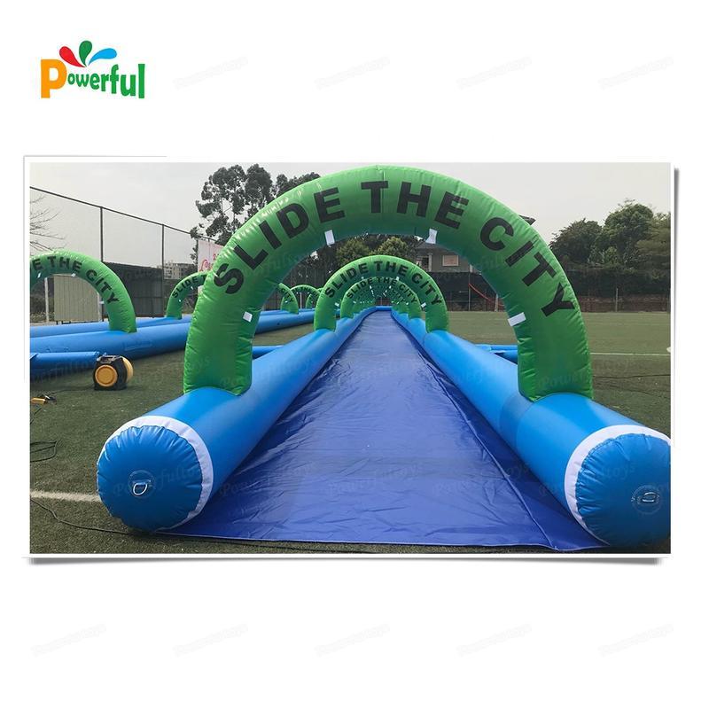 New designed 120m inflatable water park slip n slide for outdoor
