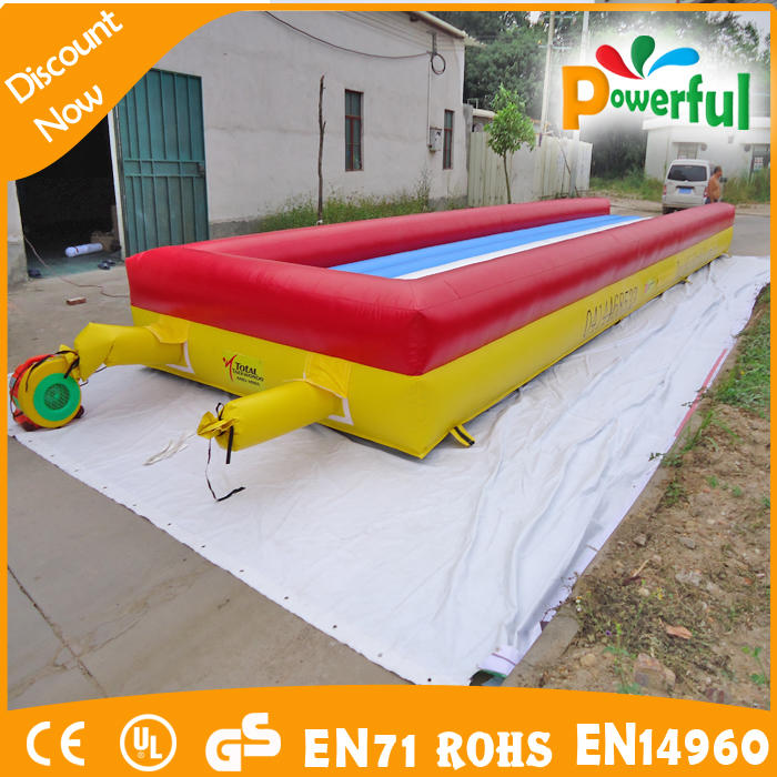 cheap simple inflatable water slide with inflatable base for amusement park