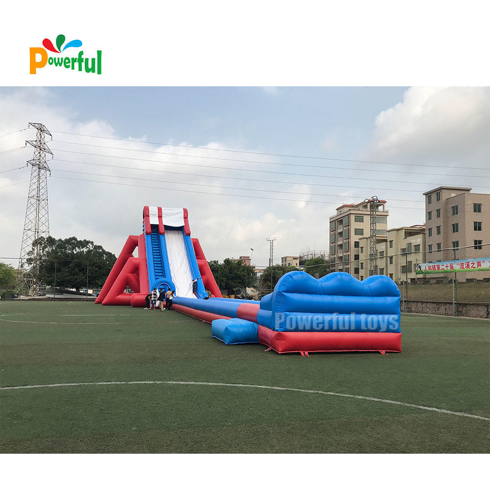 Giant inflatable slider for amusement park