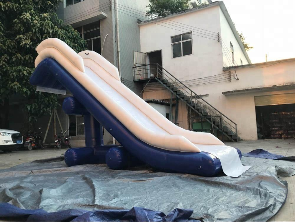 Customized water slide inflatable yacht slide for boat