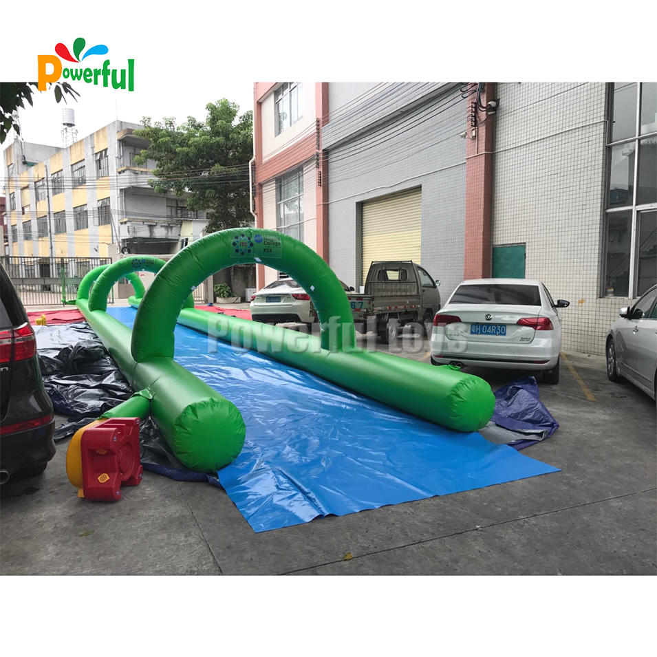 1000ft inflatable double lane slip slide custom slip n slide inflatable for city fun