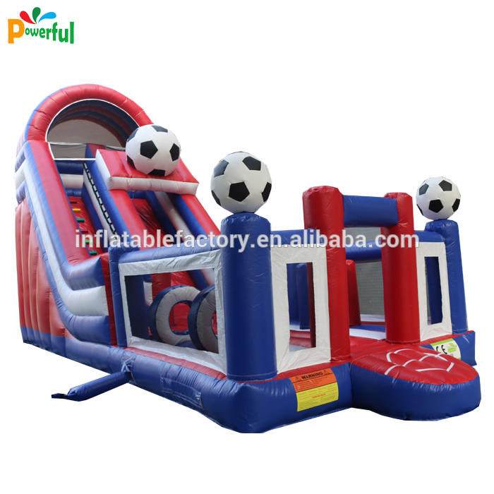 Jumping Castles inflatable football slide style theme for children amusement park