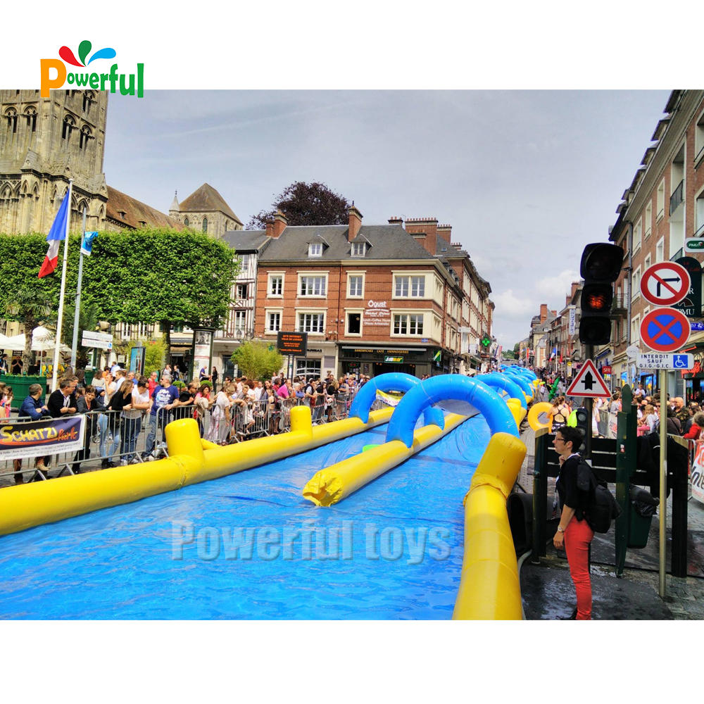 Popular Themed park inflatable slip n slide for kids and adults