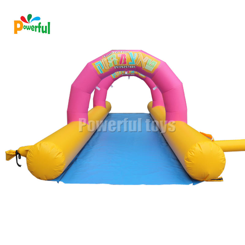 Crazy and popular custom inflatable water slip n slide for adult