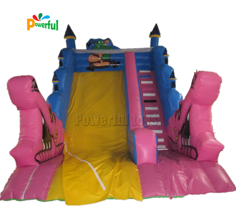 Giant double lane inflatable Bouncy castles water slide