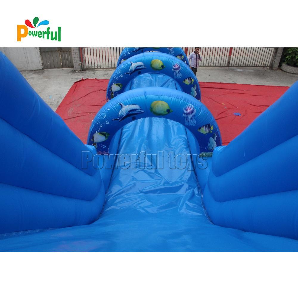 Outdoor safe water park bounce slide inflatable water slide