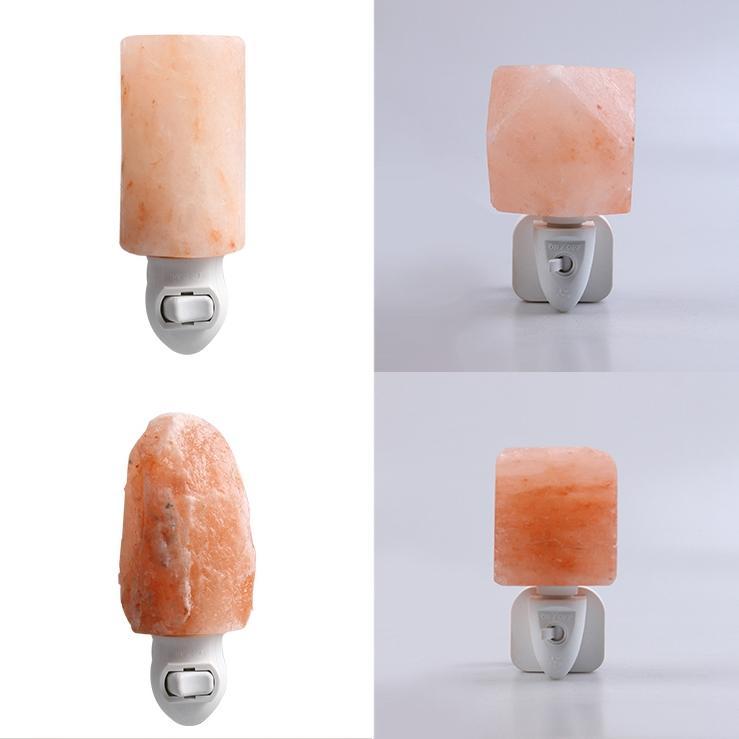 Rock Salt 7W Natural Crystal Himalayan Hand Carved Lamp Wall Lamp Light ETLnight light
