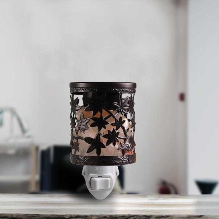 Salt lamp Aroma Essential Oil Iron Craftworks plug in night light AC 110v 220v GL-TY01 ETL CE SAA CB BS