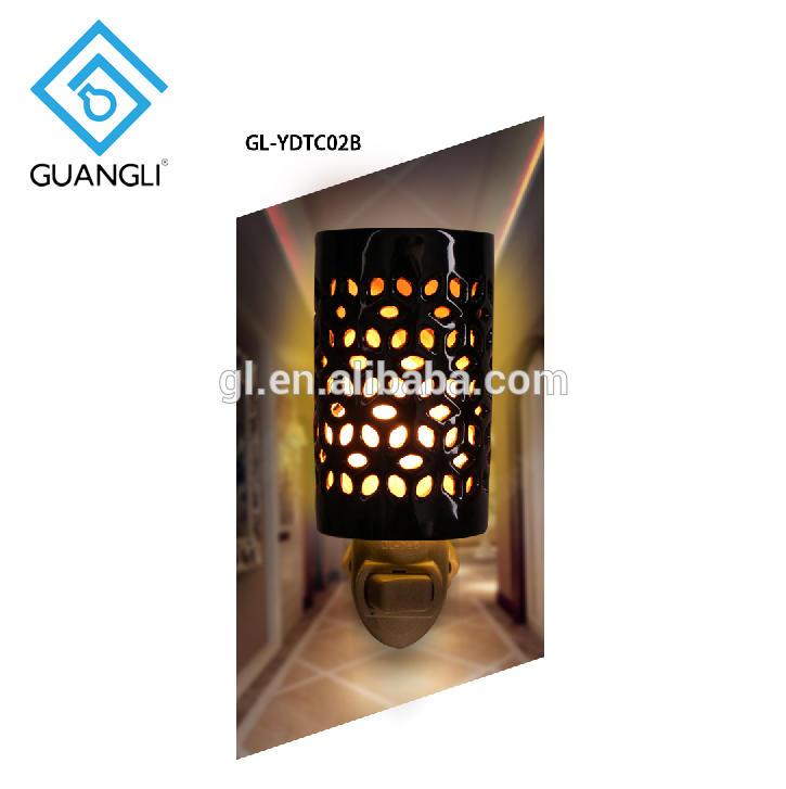 ETL CE SAA CB BS Ceramics hollow Natural Himalayan Pakistan Crystal Salt Lamp plug in night light with air anion purified