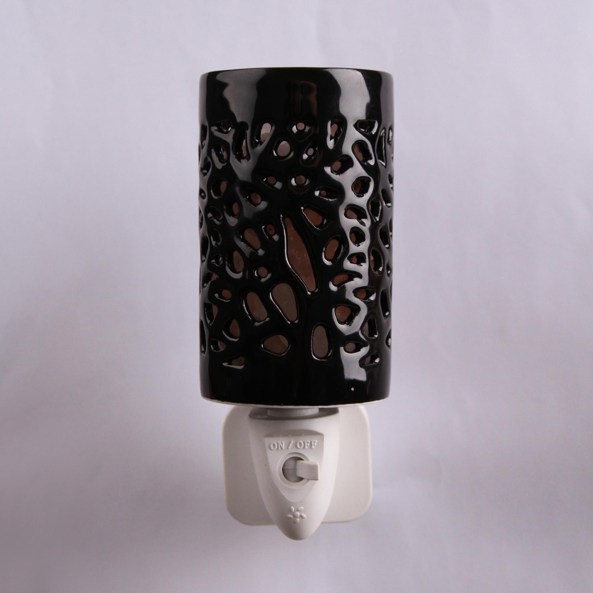 Himalayan rock Salt Lamp Ceramics hollow night light ETL CE SAA CB BS Plug in