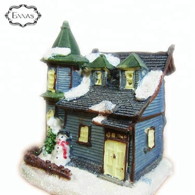 Decoration rural style hand made resin building house