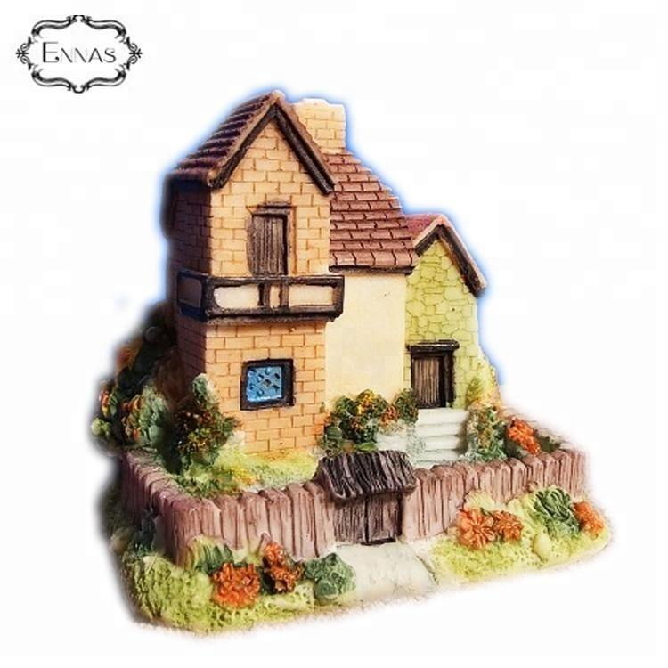 Retro residential three-dimensional home garden resin garden house decoration