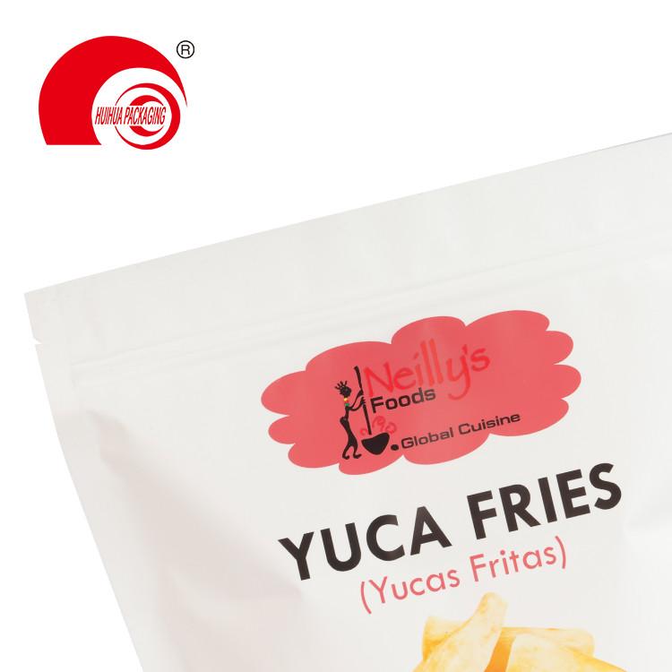 product-Matt Finish Aluminum Foil Custom Snack Bag Yuca Fries Ripe Plantains Stand Up Zipper Packagi-1