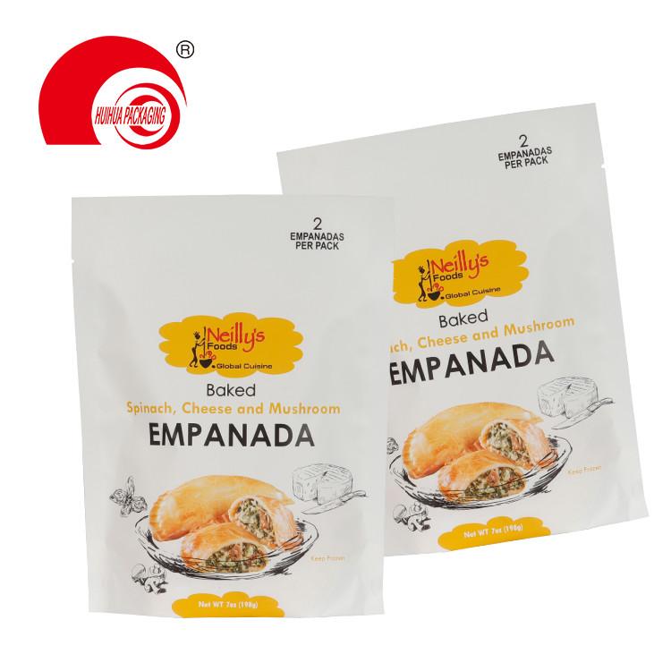 Stand Up Empanada Packaging Plastic Bag Matt Finish Spinach Cheese Mushroom Packing Doypack